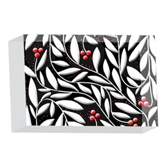 Black, red, and white floral pattern 4 x 6  Acrylic Photo Blocks