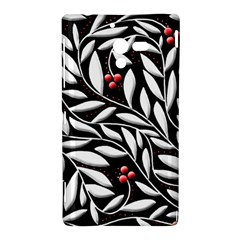 Black, red, and white floral pattern Sony Xperia ZL (L35H)
