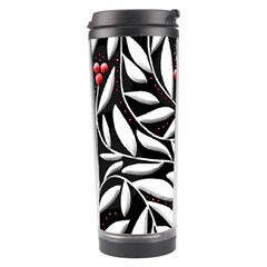 Black, red, and white floral pattern Travel Tumbler