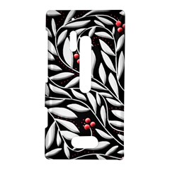 Black, red, and white floral pattern Nokia Lumia 928