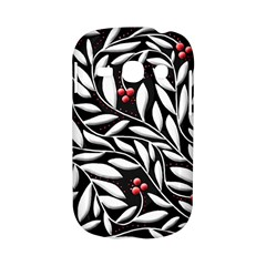 Black, red, and white floral pattern Samsung Galaxy S6810 Hardshell Case