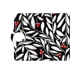 Black, red, and white floral pattern Kindle Fire HDX 8.9  Flip 360 Case