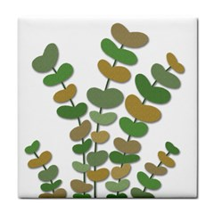 Green decorative plant Tile Coasters
