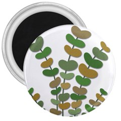 Green decorative plant 3  Magnets