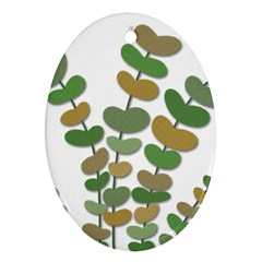 Green decorative plant Ornament (Oval)