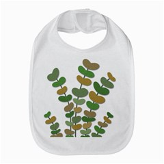Green decorative plant Bib