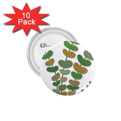 Green decorative plant 1.75  Buttons (10 pack)
