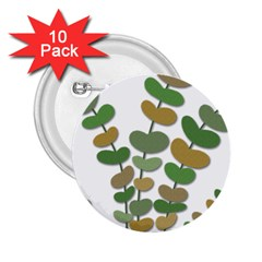 Green decorative plant 2.25  Buttons (10 pack)