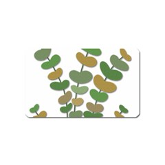 Green decorative plant Magnet (Name Card)