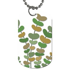 Green decorative plant Dog Tag (Two Sides)