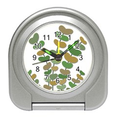 Green decorative plant Travel Alarm Clocks