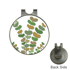 Green decorative plant Hat Clips with Golf Markers