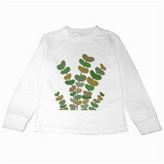 Green decorative plant Kids Long Sleeve T-Shirts