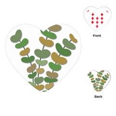 Green decorative plant Playing Cards (Heart)