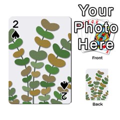 Green decorative plant Playing Cards 54 Designs