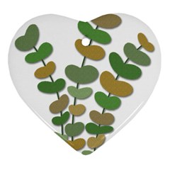 Green decorative plant Heart Ornament (2 Sides)
