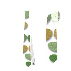 Green decorative plant Neckties (One Side)