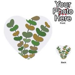 Green decorative plant Multi-purpose Cards (Heart)