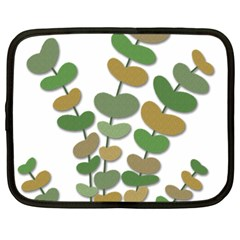 Green decorative plant Netbook Case (Large)