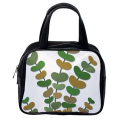 Green decorative plant Classic Handbags (One Side)