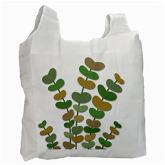 Green decorative plant Recycle Bag (One Side)