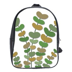 Green decorative plant School Bags(Large)