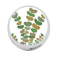 Green decorative plant 4-Port USB Hub (One Side)