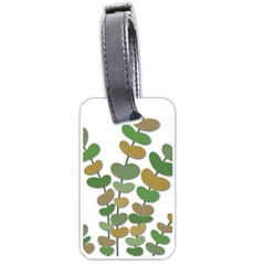 Green decorative plant Luggage Tags (One Side)