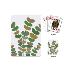Green decorative plant Playing Cards (Mini)