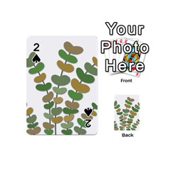 Green decorative plant Playing Cards 54 (Mini)
