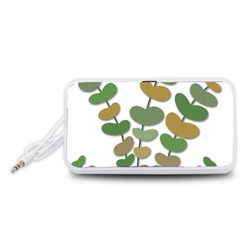 Green decorative plant Portable Speaker (White)