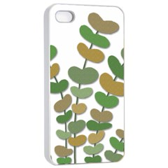 Green decorative plant Apple iPhone 4/4s Seamless Case (White)
