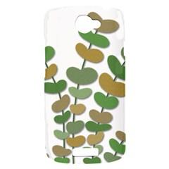 Green decorative plant HTC One S Hardshell Case