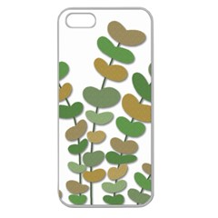 Green decorative plant Apple Seamless iPhone 5 Case (Clear)