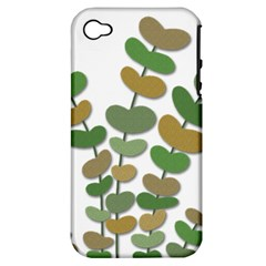 Green decorative plant Apple iPhone 4/4S Hardshell Case (PC+Silicone)