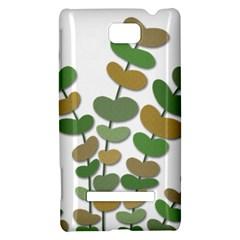 Green decorative plant HTC 8S Hardshell Case