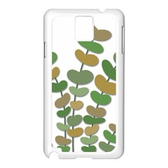 Green decorative plant Samsung Galaxy Note 3 N9005 Case (White)