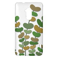 Green decorative plant HTC One Max (T6) Hardshell Case