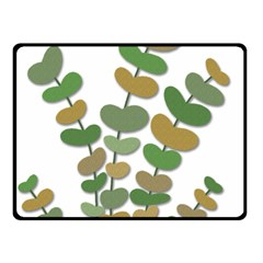 Green decorative plant Double Sided Fleece Blanket (Small)