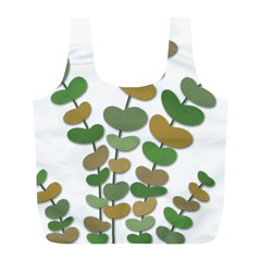 Green decorative plant Full Print Recycle Bags (L)