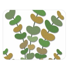 Green decorative plant Double Sided Flano Blanket (Large)