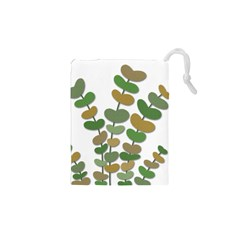 Green decorative plant Drawstring Pouches (XS)