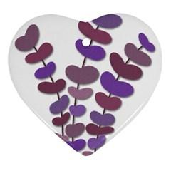 Purple decorative plant Heart Ornament (2 Sides)