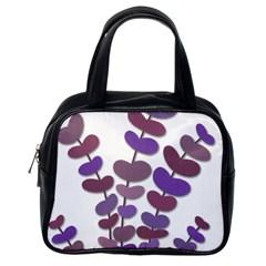 Purple decorative plant Classic Handbags (One Side)