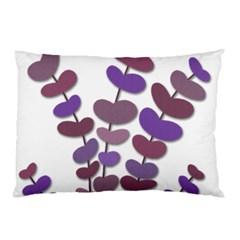 Purple decorative plant Pillow Case