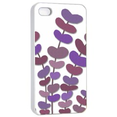 Purple decorative plant Apple iPhone 4/4s Seamless Case (White)