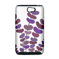 Purple decorative plant Samsung Galaxy Note 2 Hardshell Case (PC+Silicone)