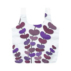 Purple decorative plant Full Print Recycle Bags (M)