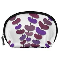 Purple decorative plant Accessory Pouches (Large)