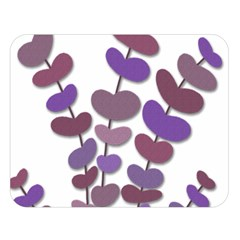 Purple decorative plant Double Sided Flano Blanket (Large)